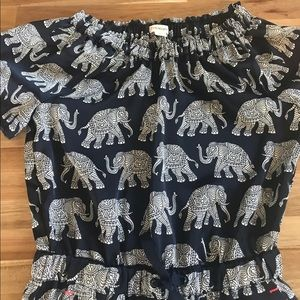 Crewcuts One Pieces - EUC Crew Cuts Girls Batik Elephant Jumpsuit